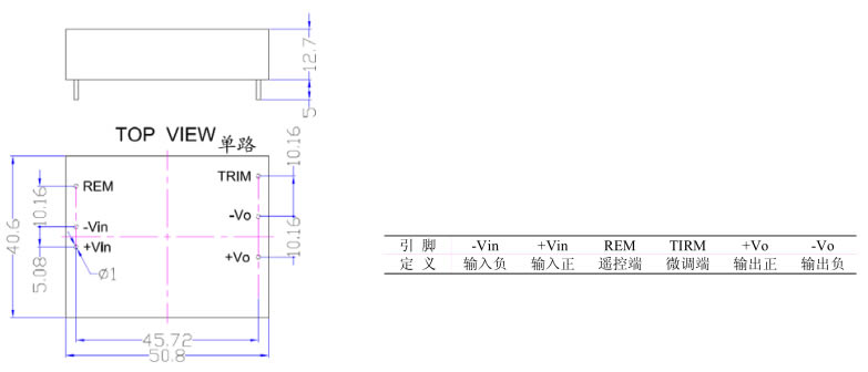 20W DLMC-C系列 恒流充电模块外形图