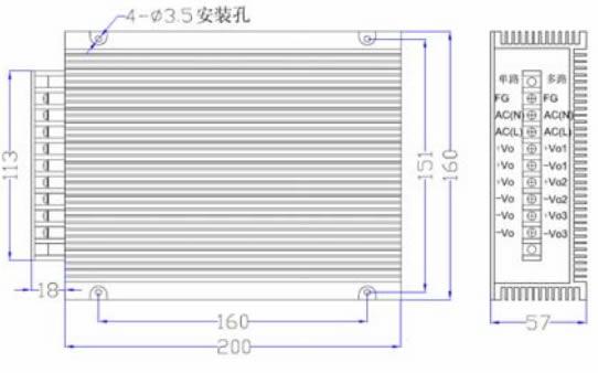 500W DZAEC500S系列 无间断备份电源外形图
